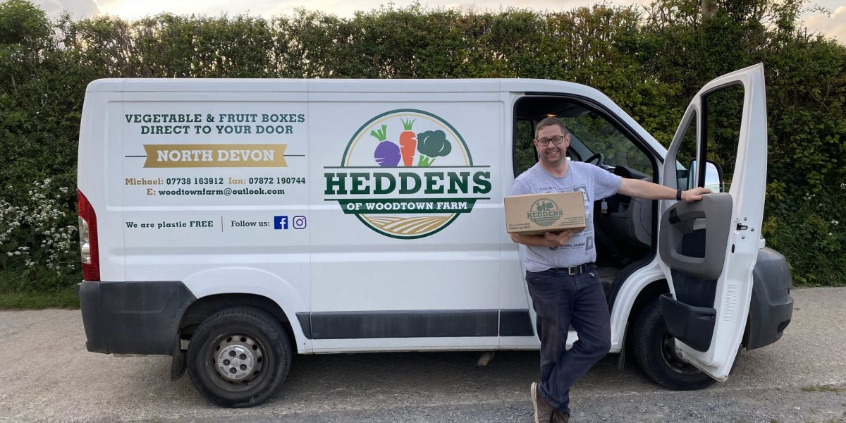 Ian with van and delivery box